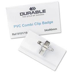 Durable Combi Clip Bdg 54x90mm (50) 8101