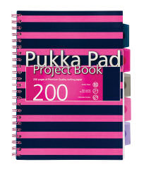 Pukka Navy Project Book A4 Pink 6670-NVY