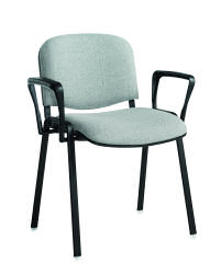 Taurus Stacking Arm Chair Blk/Char