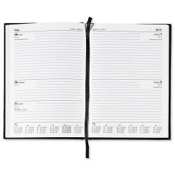 Select 2016 Diary 2Days-To-Page A4 Black