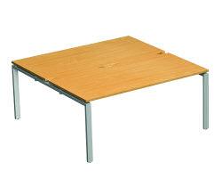 Adapt II Bench Desk 1600x1600 Wht/Bch