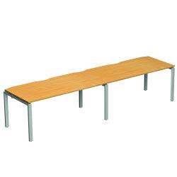 Adapt II Dbl Desk 2800x600 Slv/Wht