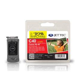 Jet Tec Canon Ink Cart Blk PG-40