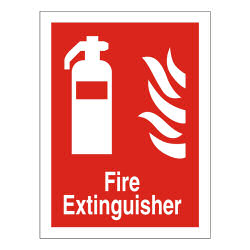 SS Fire Extinguisher Sign PVC FF071