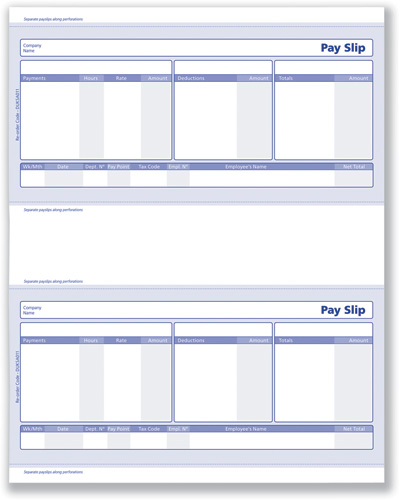 Wonderful SageCompat Payslips Forms Pk500 SE95 : Calidore Computers Ltd For All Your  Backoffice System Supplier. Regard To Blank Wage Slips